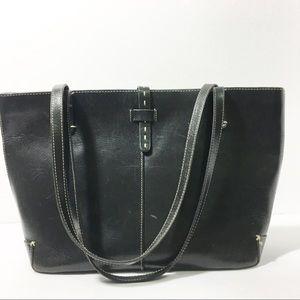 Ann Taylor Italian leather tote